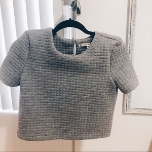 Chelsea & Violet • Gray quilted Crop Top